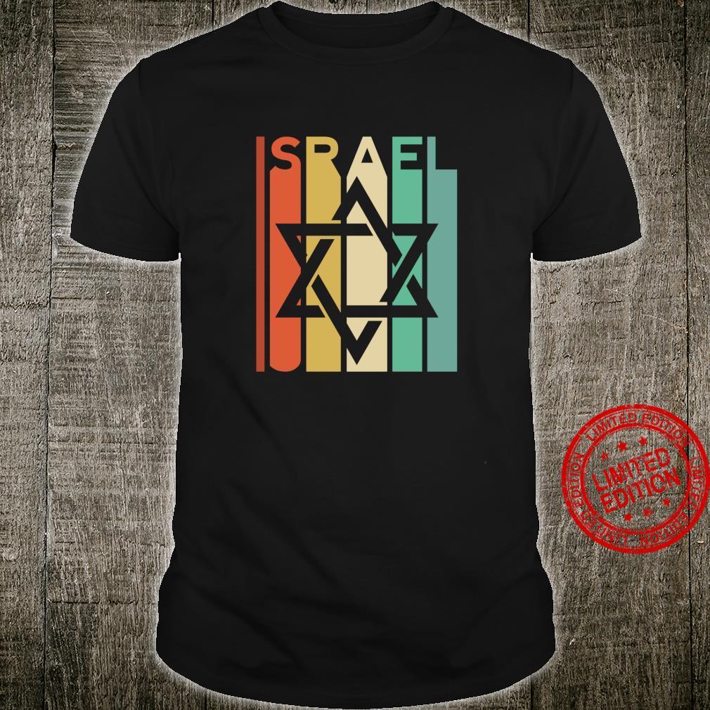 Retro Israel Jewish Star Vintage Tel Aviv City Israeli Flag Shirt