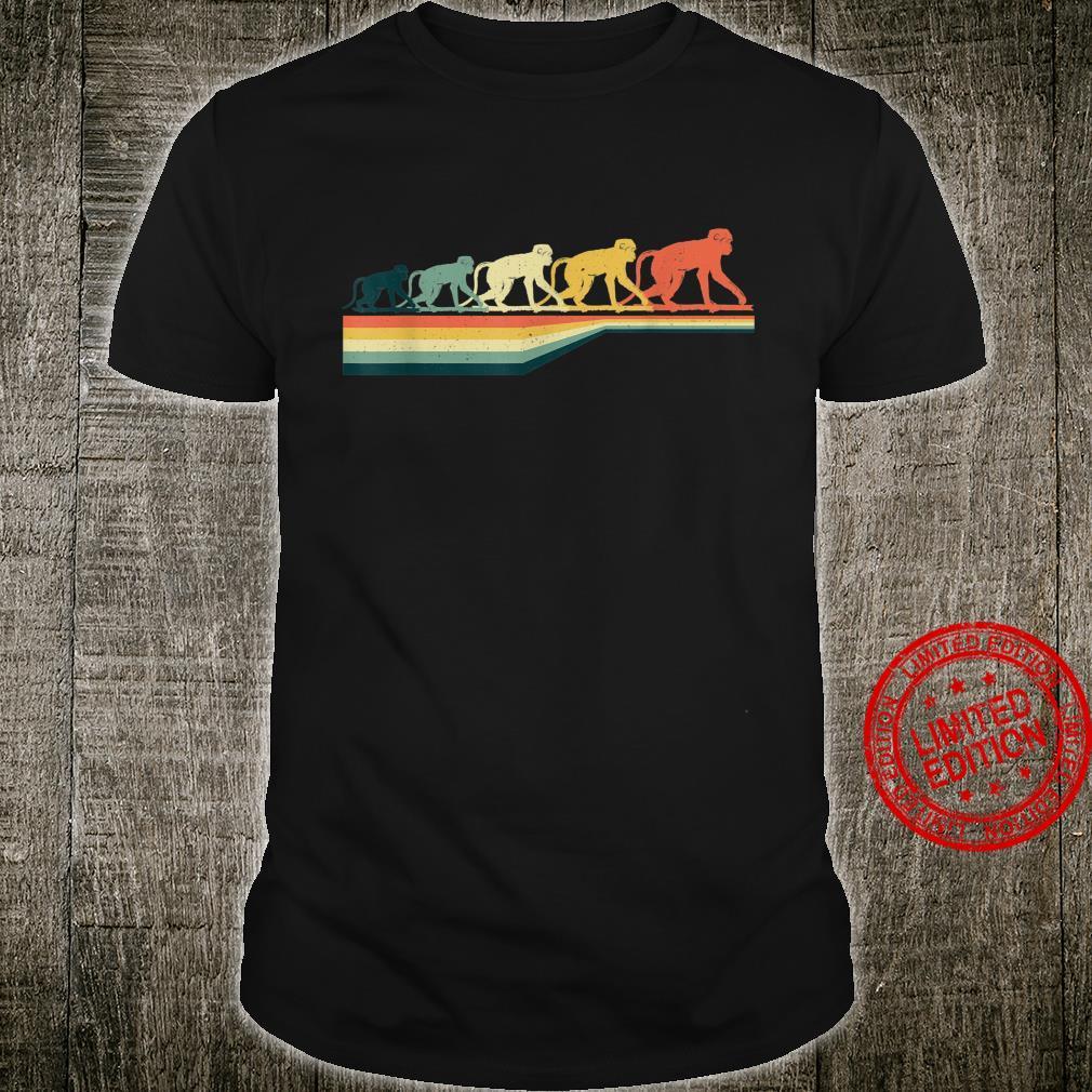 Retro Vintage Monkey Animal 70s 80s Shirt