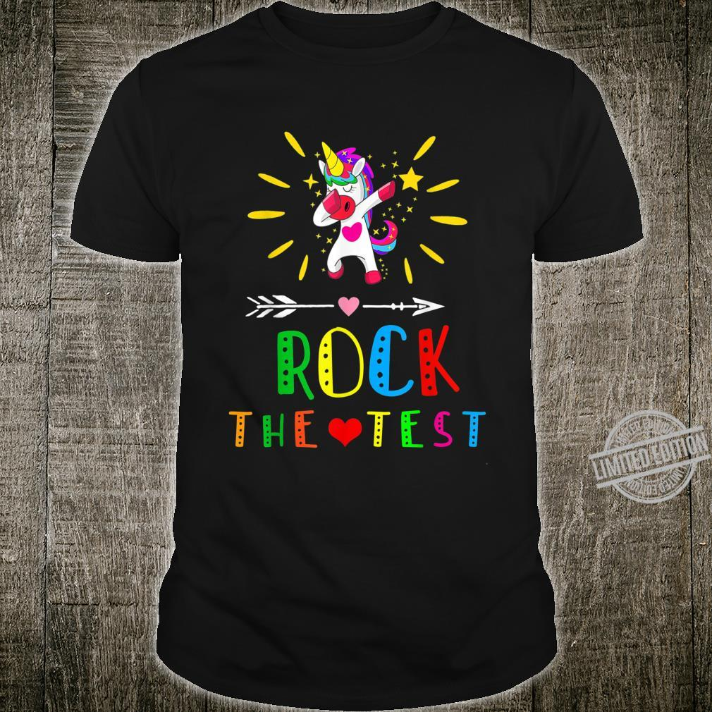 Rock the test School Professor Teacher Shirt