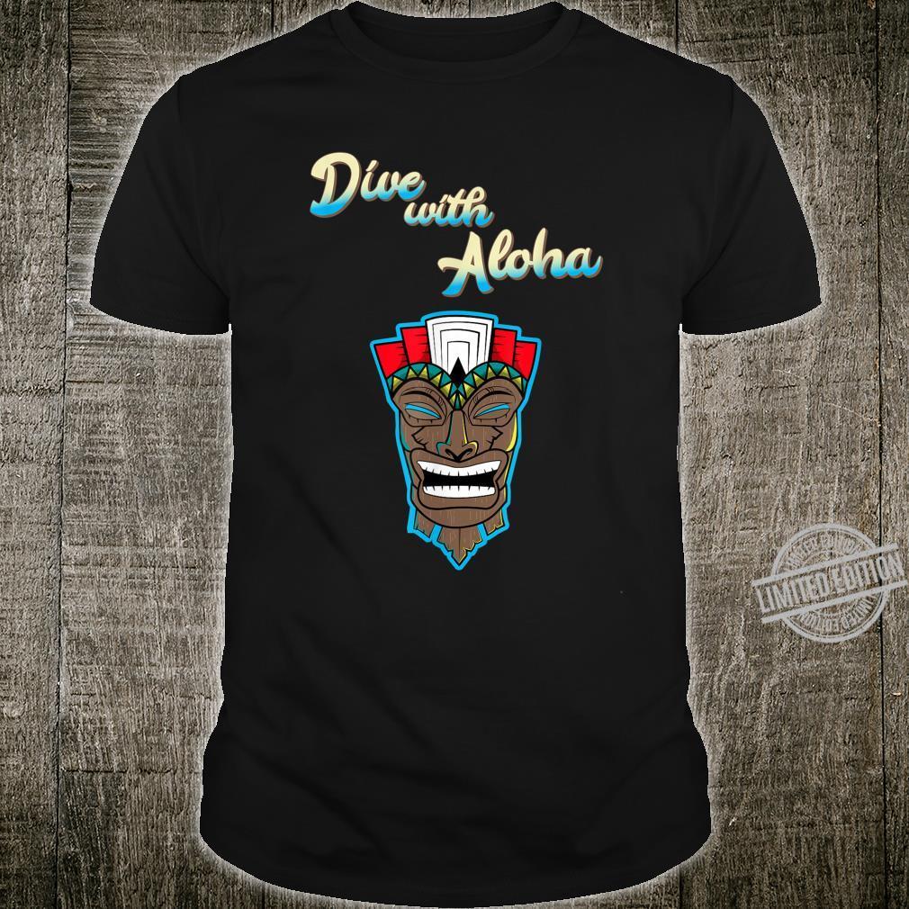 Scuba Diving Scuba Diver Tiki Mask Hawaii Dive with Aloha Shirt