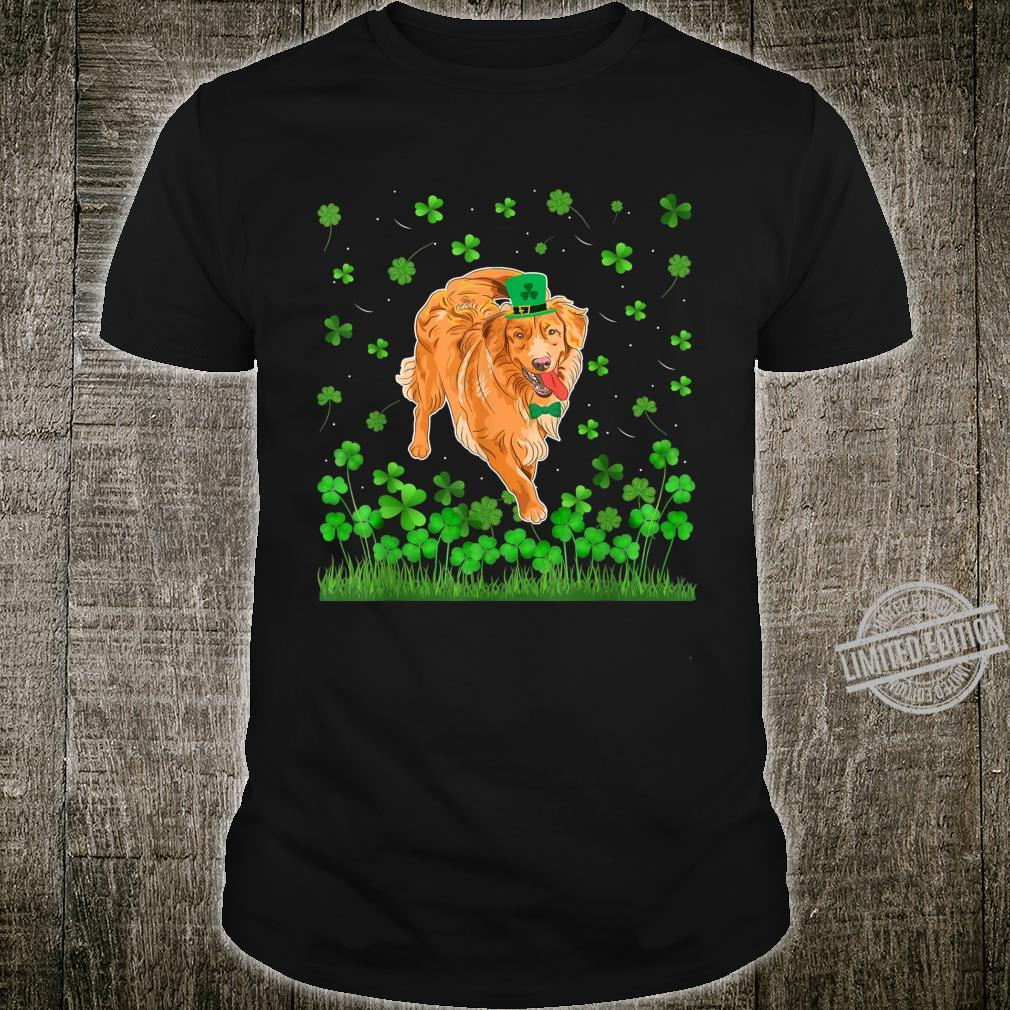 Shamrock Golden Retriever Dog Mom Dad St Patricks Day Irish Shirt