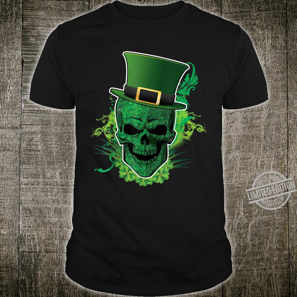 Shamrock Skull Leprechaun St Patrick Day Shirt