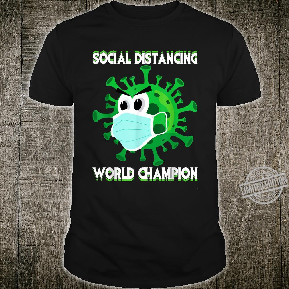 Social Distancing World Champion Introvert Virus Shirt