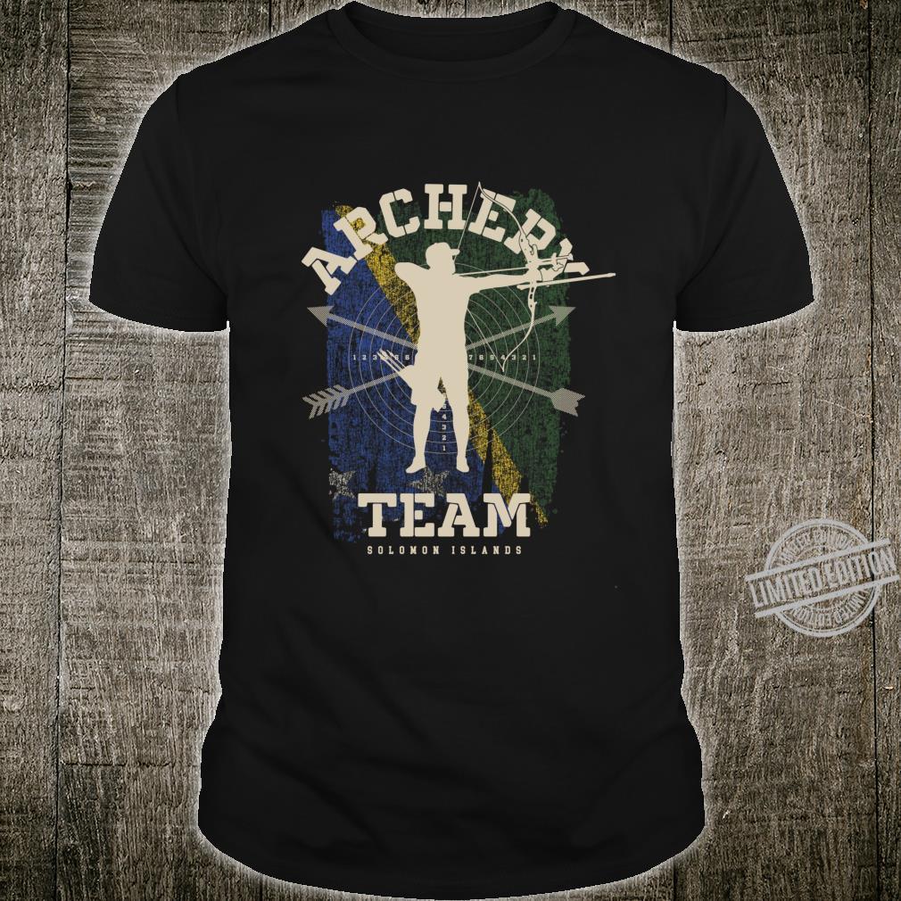 Solomon Islands Archery Team Sports Solomon Flag Bow Arrow Shirt