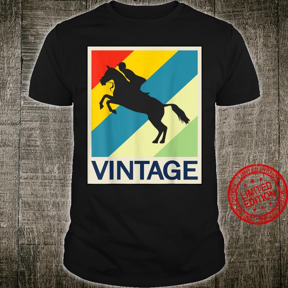 Springreiten Springreiter Reiten Reiter Vintage Retro Style Shirt