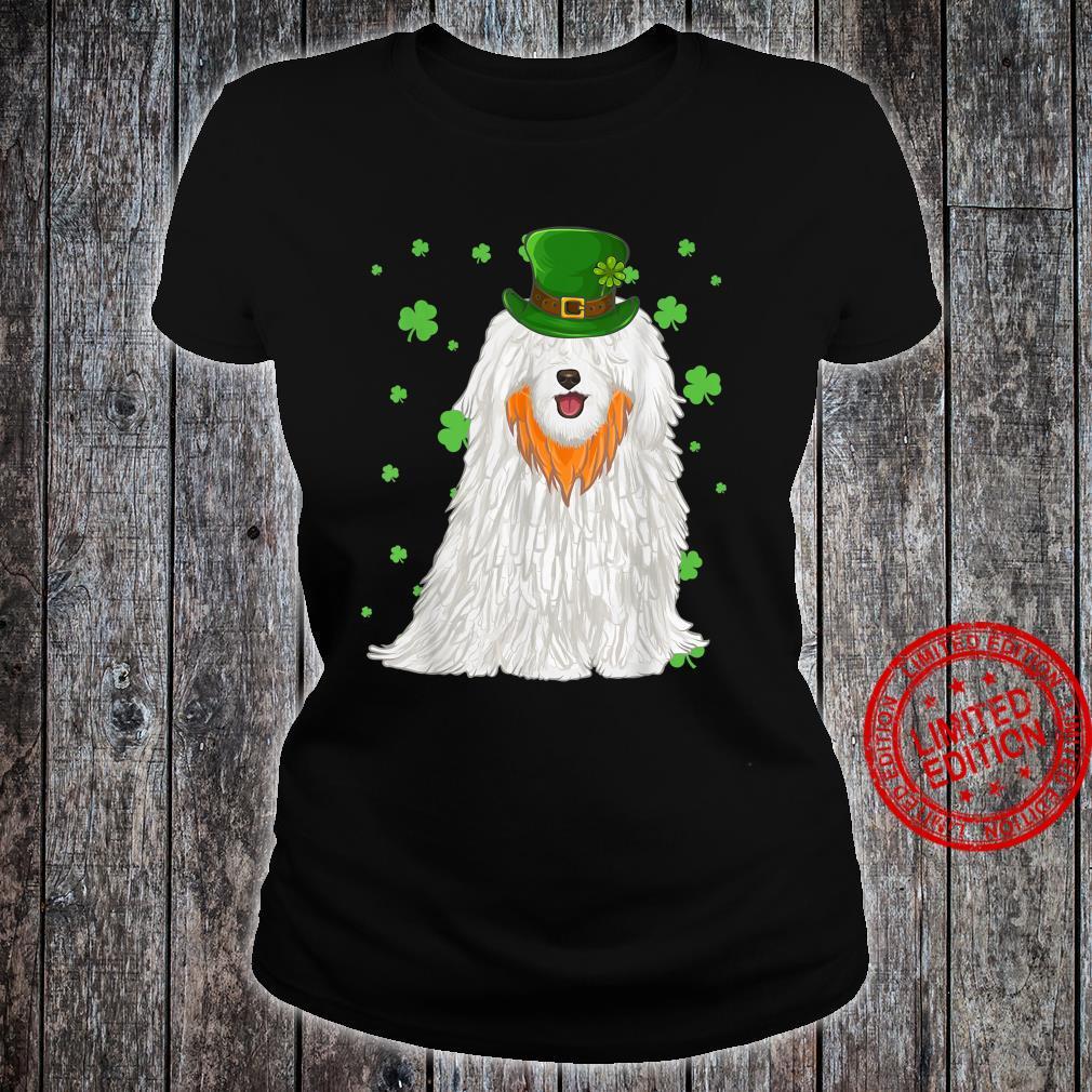 St Patricks Day Pulik Dog Shamrock Shirt ladies tee