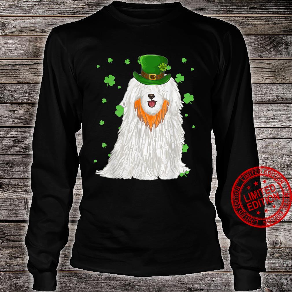 St Patricks Day Pulik Dog Shamrock Shirt long sleeved