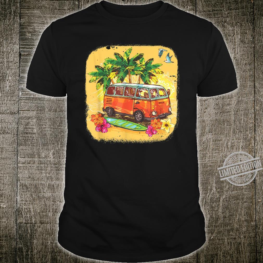 Surfen Shirt Surfbrett Hippie Van Bus Strand Sommer Vintage Shirt