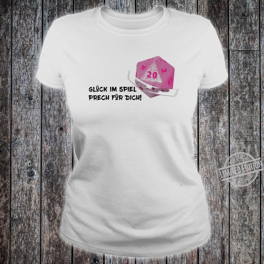 Tabetop RPG Larp W20 Nerd Shirt ladies tee