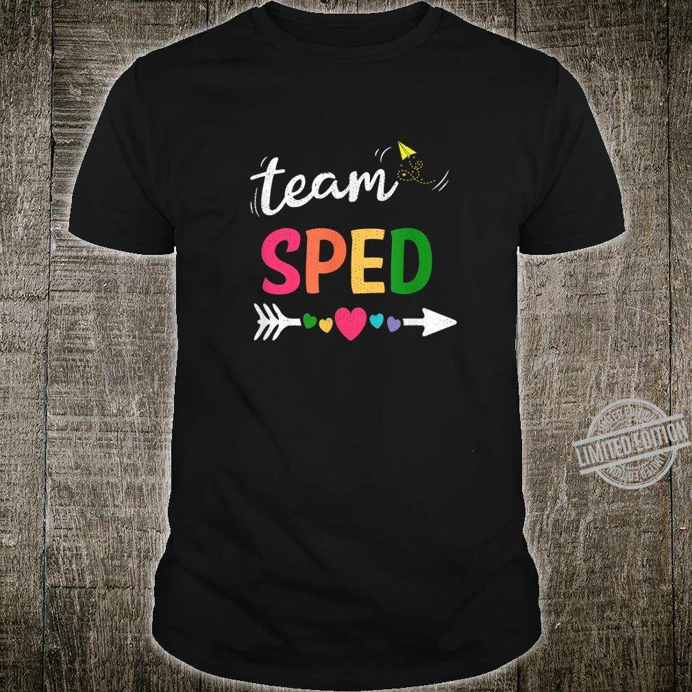 Team Sped Teacher Student Back To School Shirt