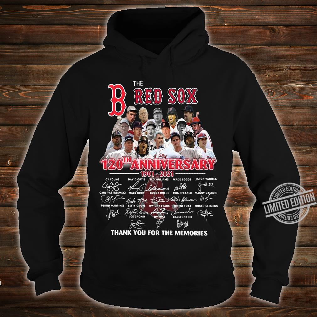 The Red Sox 120th Anniversary Thank You For The Memories Shirt hoodie