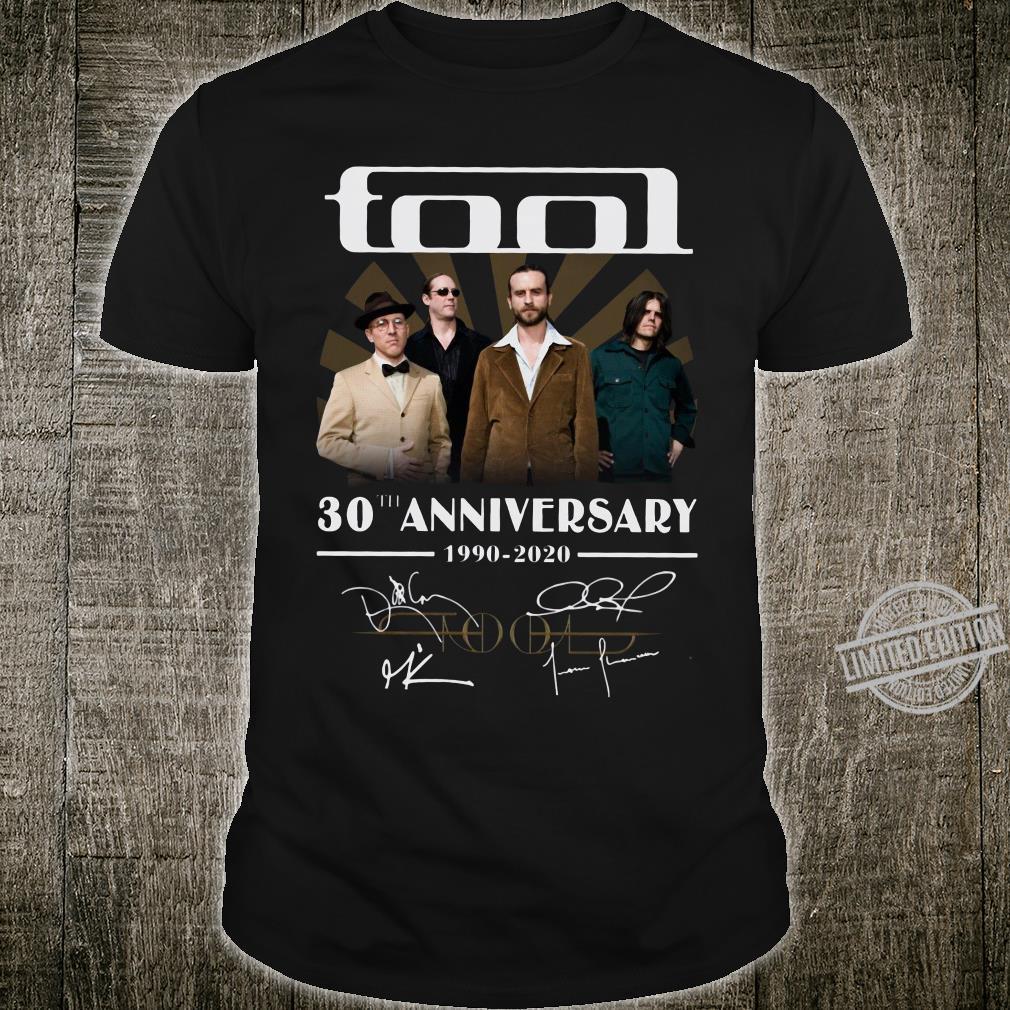 Tool 30th anniversary 1990-2020 signature shirt