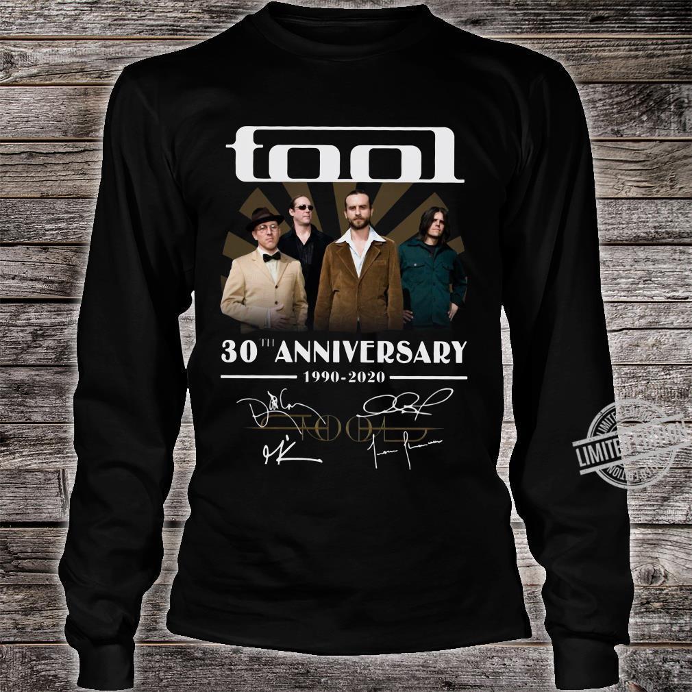 Tool 30th anniversary 1990-2020 signature shirt long sleeved