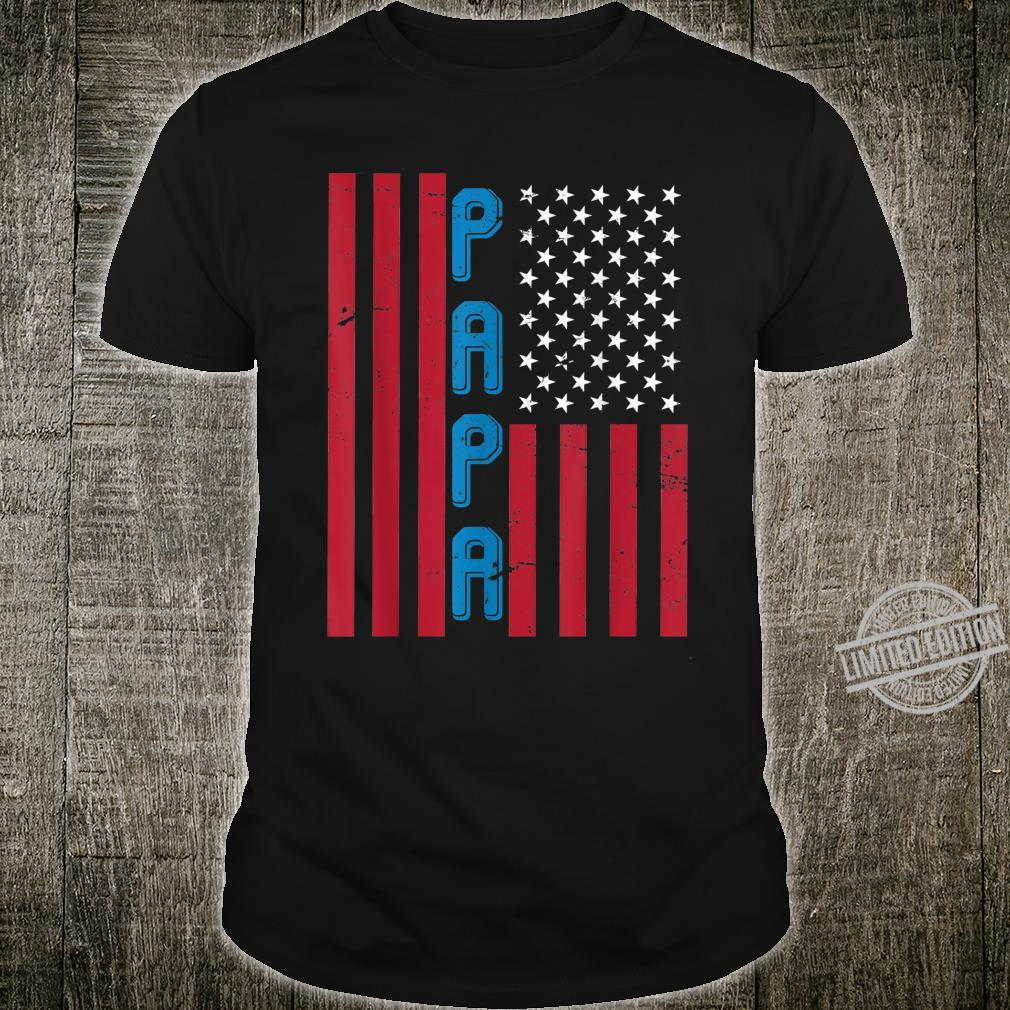 USA Flagge Vater Liebe Eltern Vatertag Shirt