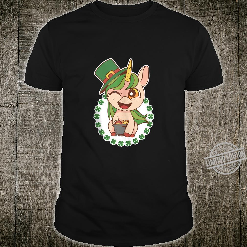 Unicorn St Patricks Day Girls Leprechaun Lepricorn Shirt