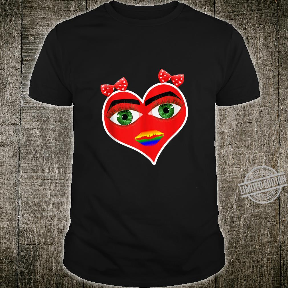 Valentine LGBT Gay Pride Kiss Me Shirt Design and Shirt