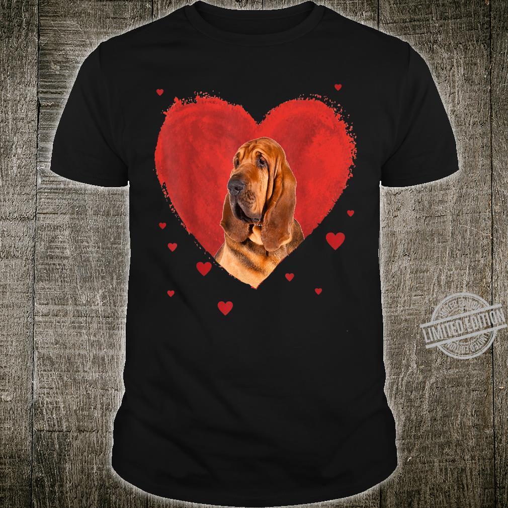 Valentines Day Bloodhound Love Heart Shirt