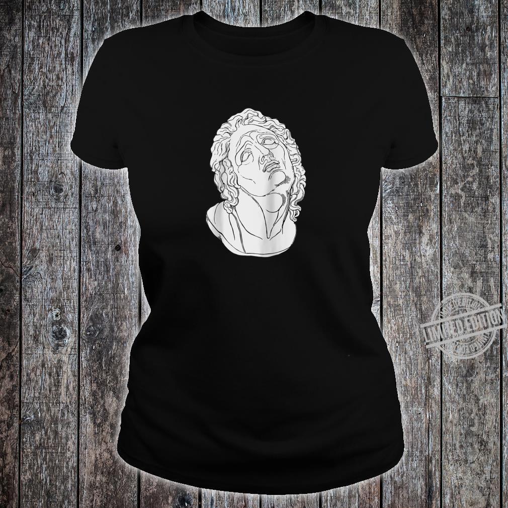 Vaporwave Roman Bust Vapor Wave Aesthetic Shirt ladies tee