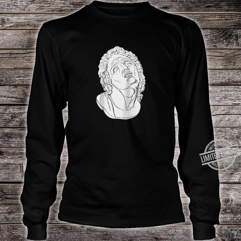 Vaporwave Roman Bust Vapor Wave Aesthetic Shirt long sleeved