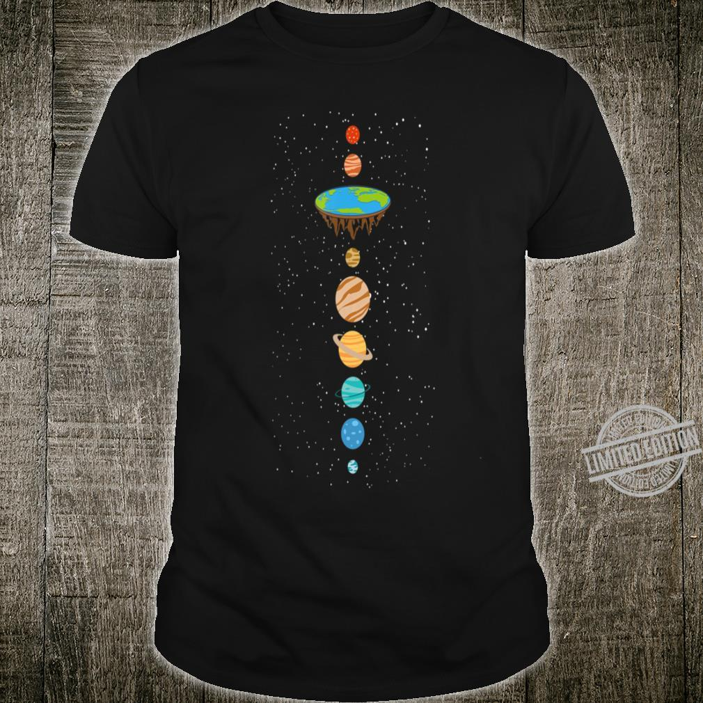 Vertical Flat Earth Believers Solar Sys Shirt