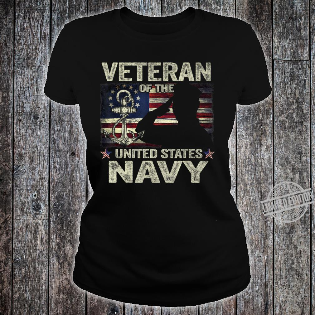 Veteran Of The Us Navy Betsy Ross Flag Shirt ladies tee