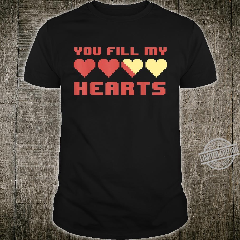 Video Gamer Fill Gaming Matching Valentines Day Shirt