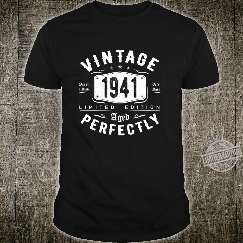 Vintage 1941 79th Birthday Idea 79 Years Old Shirt