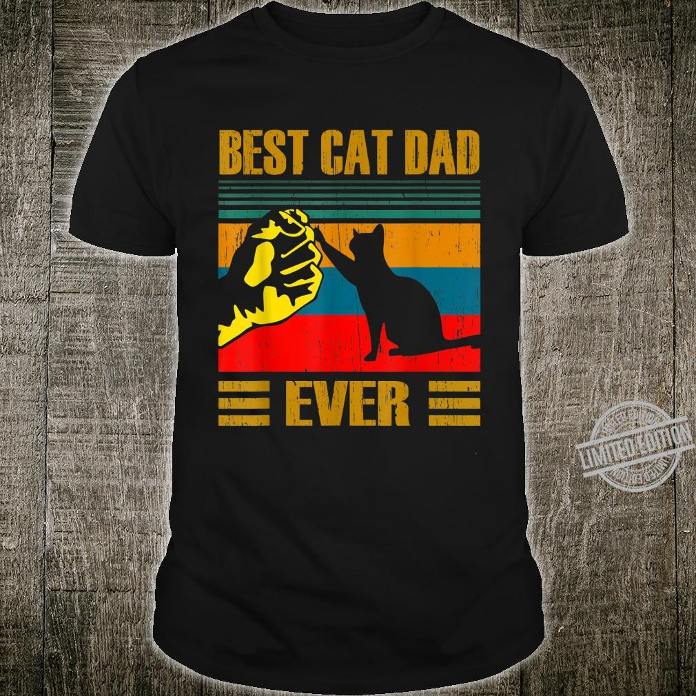Vintage Best Cat Dad Ever Cat for Father's Day Shirt