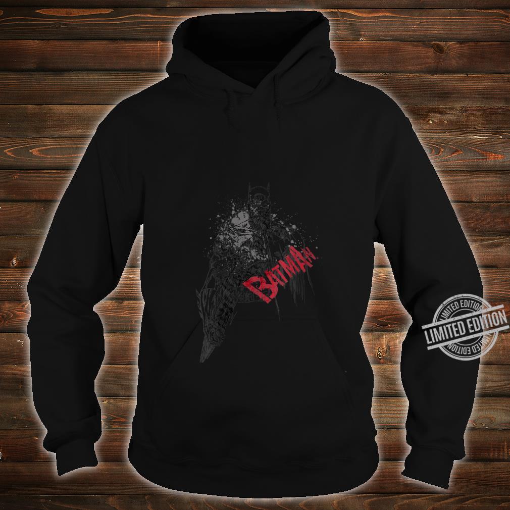 Womens Batman Sketch Bat Red Logo Shirt hoodie