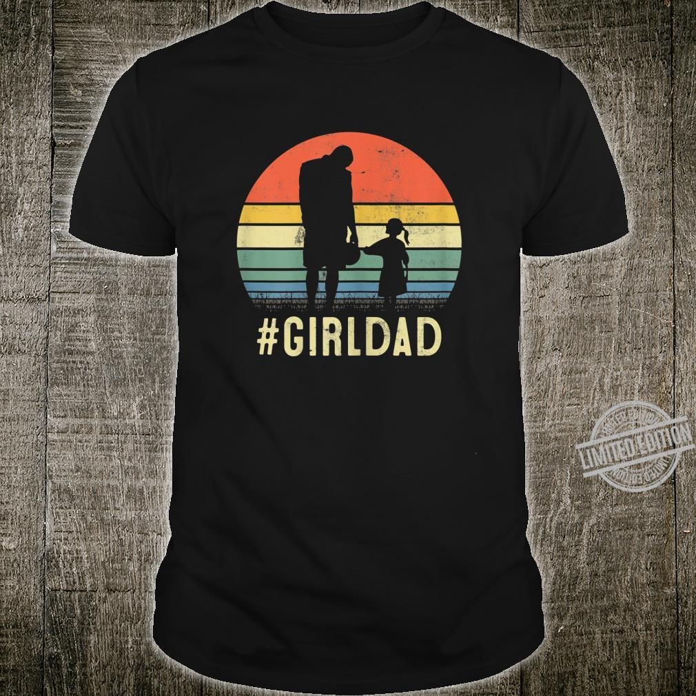 Womens Father And Daughter Vintage GirlDad For Family Shirt