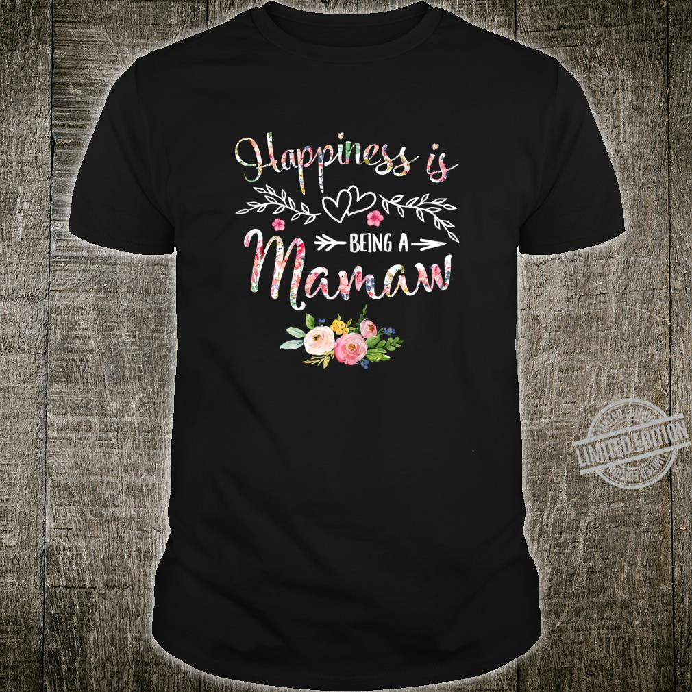 Womens Happiness is being a Mamaw Mother's Day Grandma Shirt