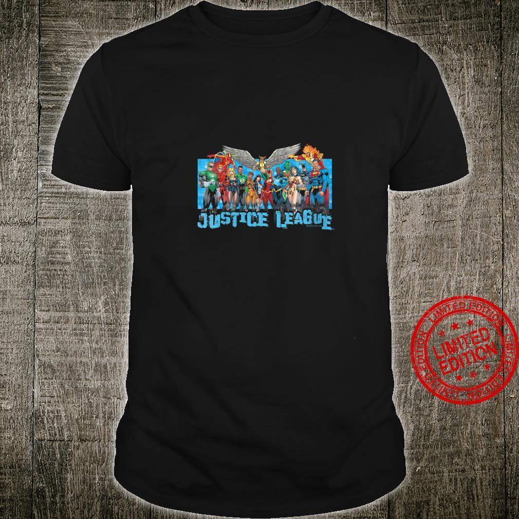 Womens Justice League League Lineup Shirt