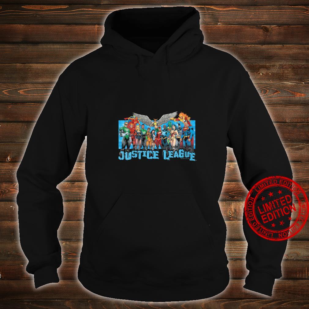 Womens Justice League League Lineup Shirt hoodie