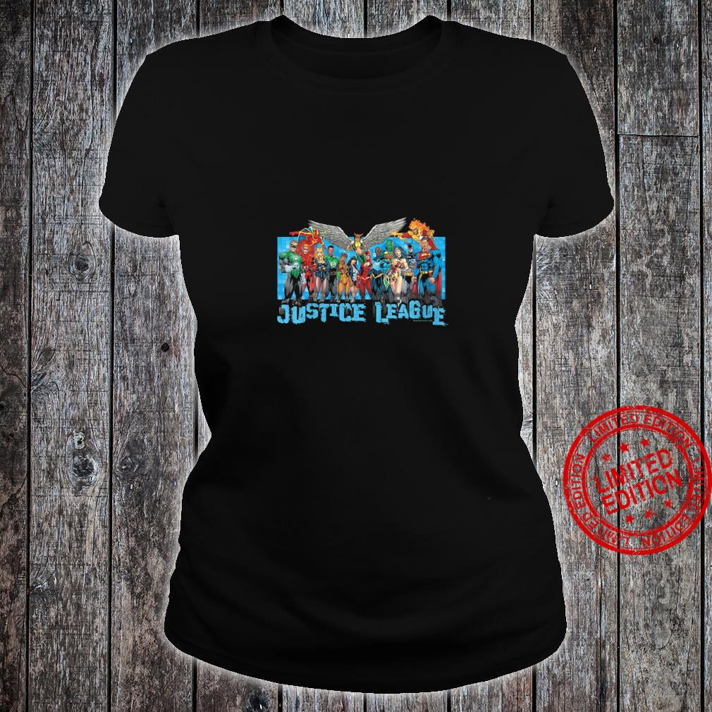 Womens Justice League League Lineup Shirt ladies tee