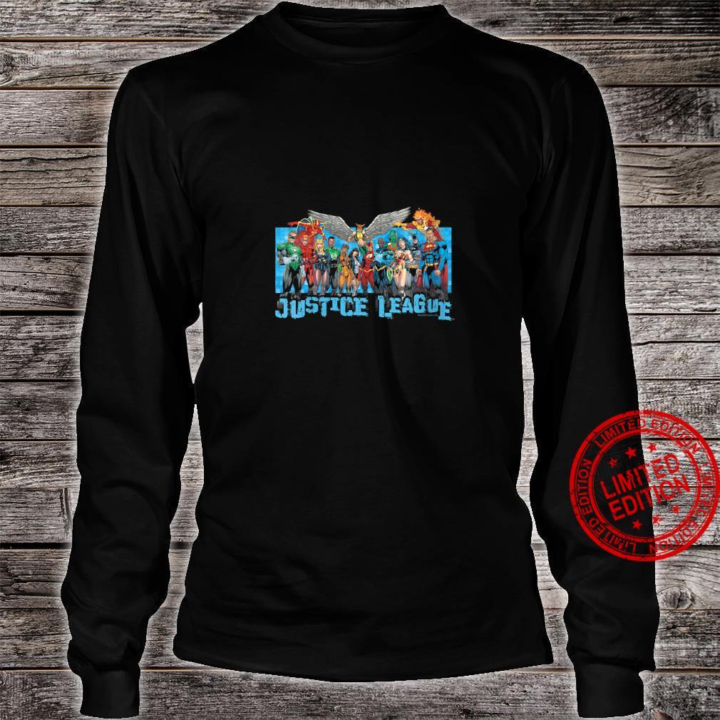 Womens Justice League League Lineup Shirt long sleeved