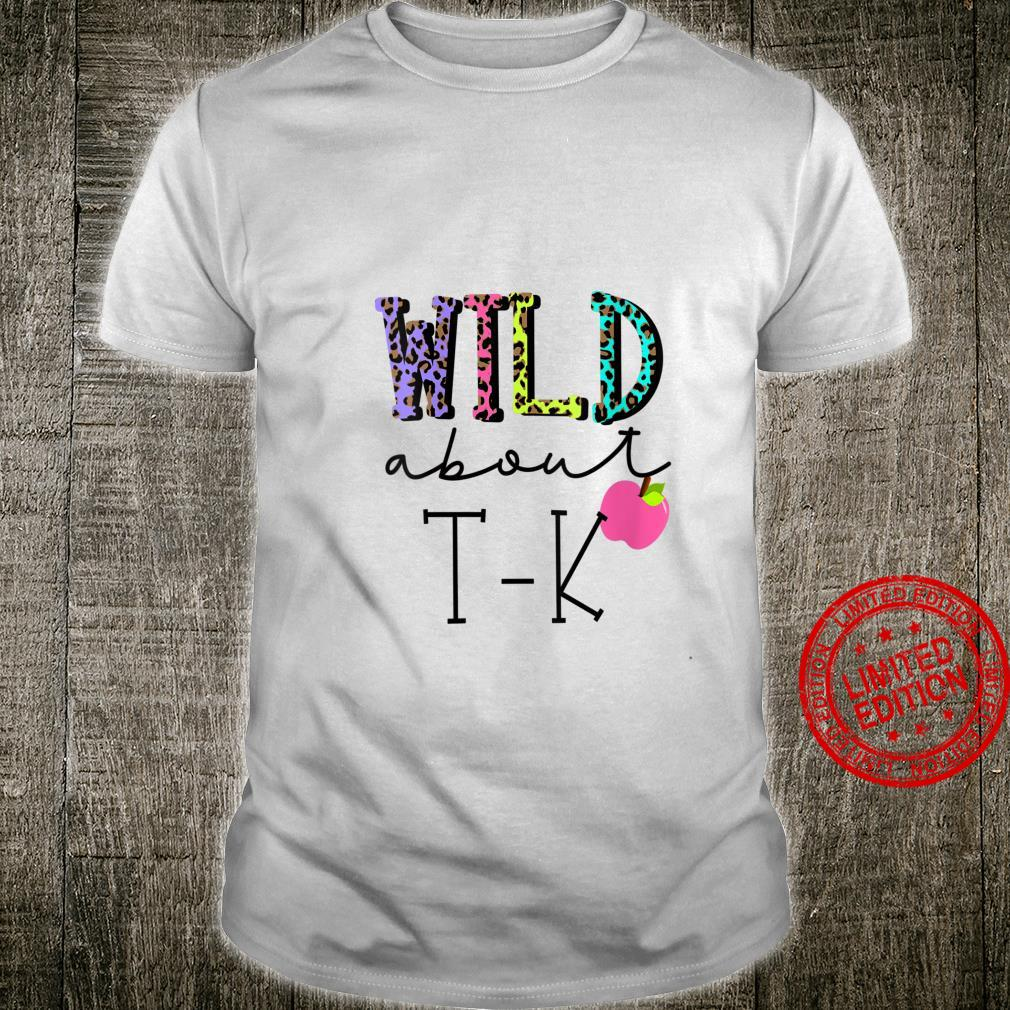 Womens Wild About TK Cute TK for Teacher Little Girl Leopard Shirt